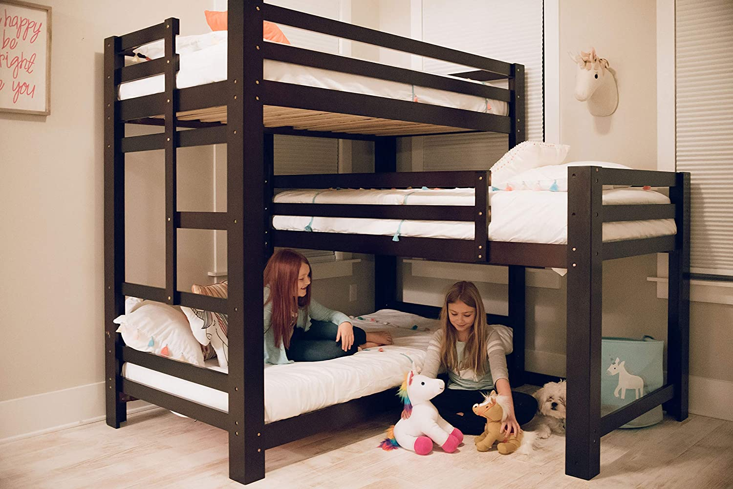 Amazon Com Sydney L Shaped Triple Bunk Bed Kitchen Dining