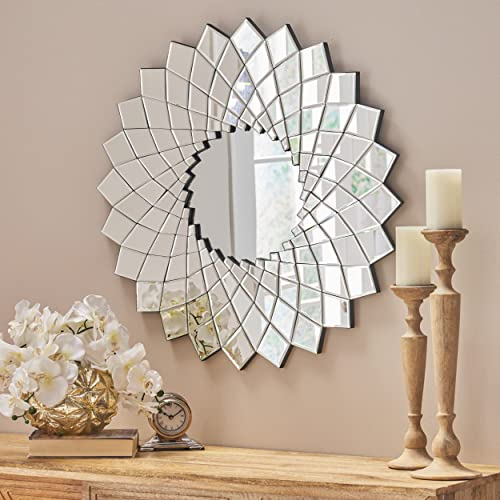 Christopher Knight Home 304282 Tzipora Glam Sunburst Wall Mirror
