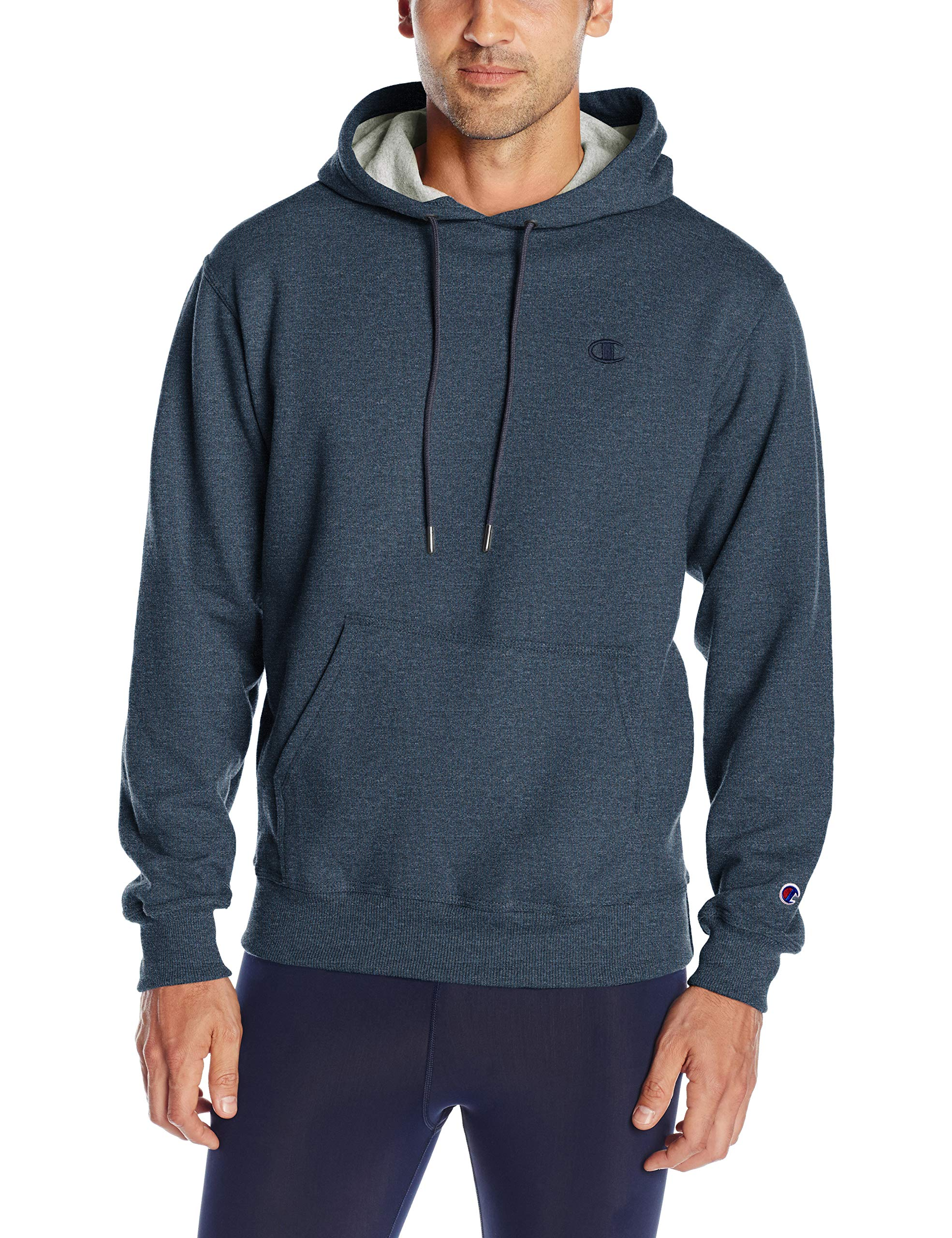 Champion Men's Powerblend Pullover Hoodie, Navy Heather, Large by Champion