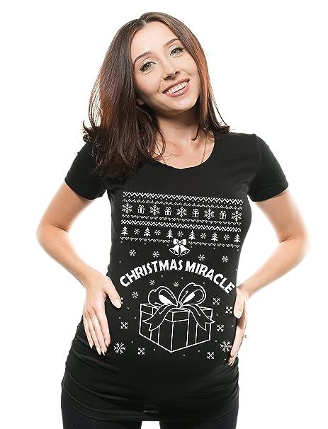 Silk Road Tees Mujeres Milagro de la Navidad Camiseta Embarazo Top verdadera Camiseta de Maternidad: Amazon.es: Ropa y accesorios