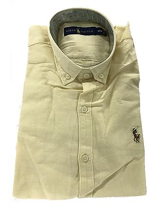 Polo Ralph Lauren Herren Freizeit-Hemd, Einfarbig Gr. XXL, gelb ... 7d65155980