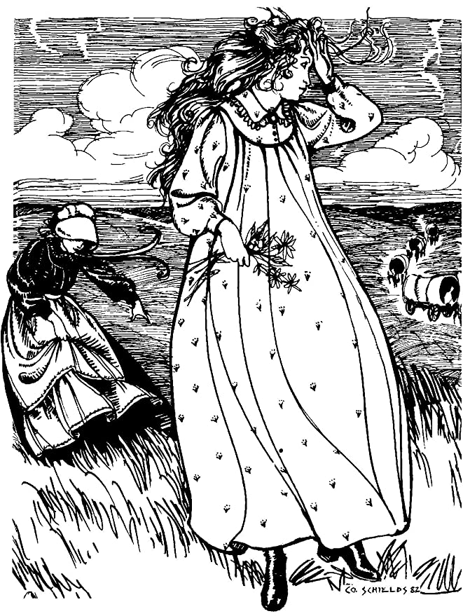 ae929f7565 Amazon.com  Folkwear Prairie Dress  201 - 1800 s Gown Frock Apron American  Out West Reproduction Sewing Pattern (Pattern Only) folkwear201  Arts