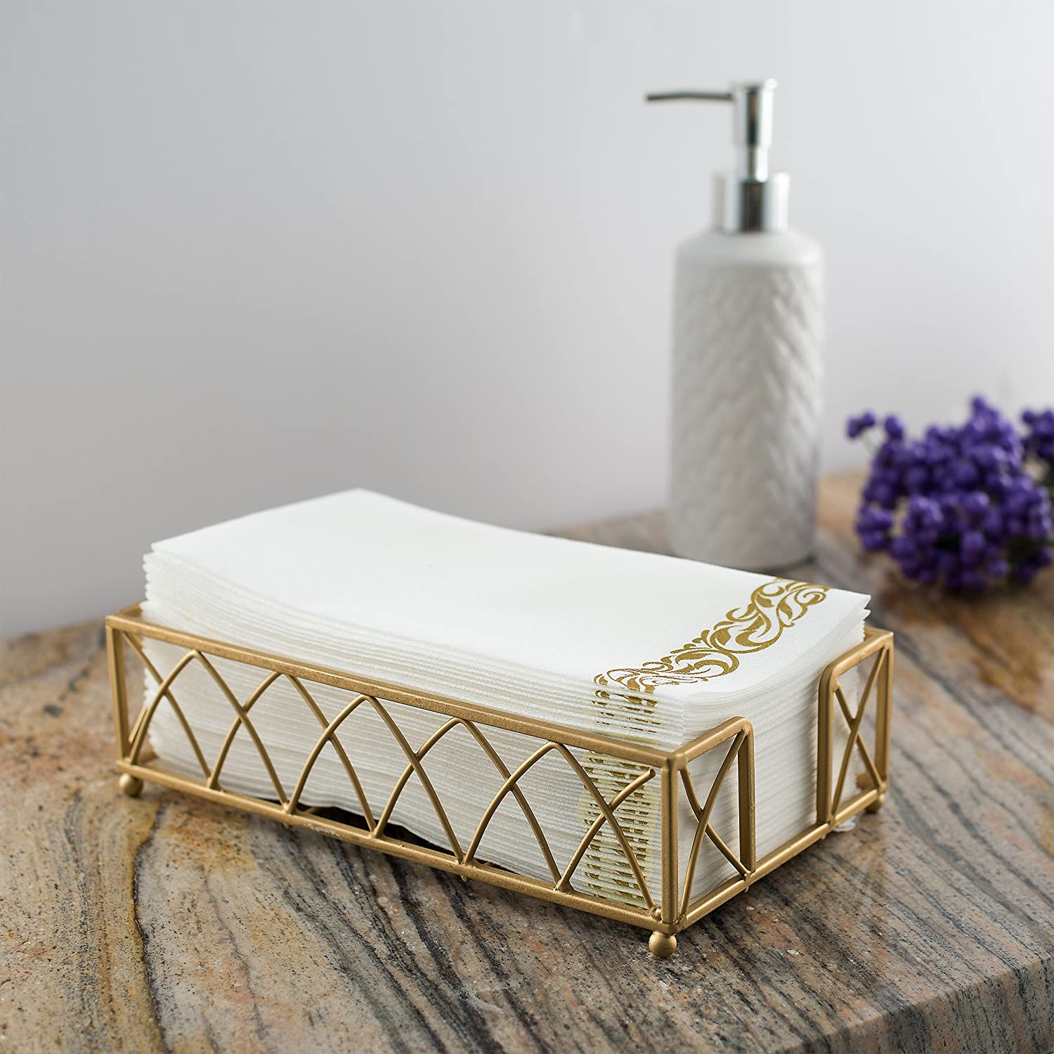 Decorative Hand Towels For Powder Room Amazoncom Bloomingoods Decorative Hand Towels Paper Napkins
