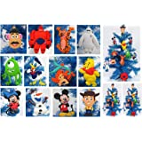 Disney 12 Piece Christmas Ornament Set with Woody, Pooh Bear, Tigger, Baymax, Ariel, Mickey Mouse, Minnie Mouse, Olaf & More - Unique Shatterproof Plastic Design