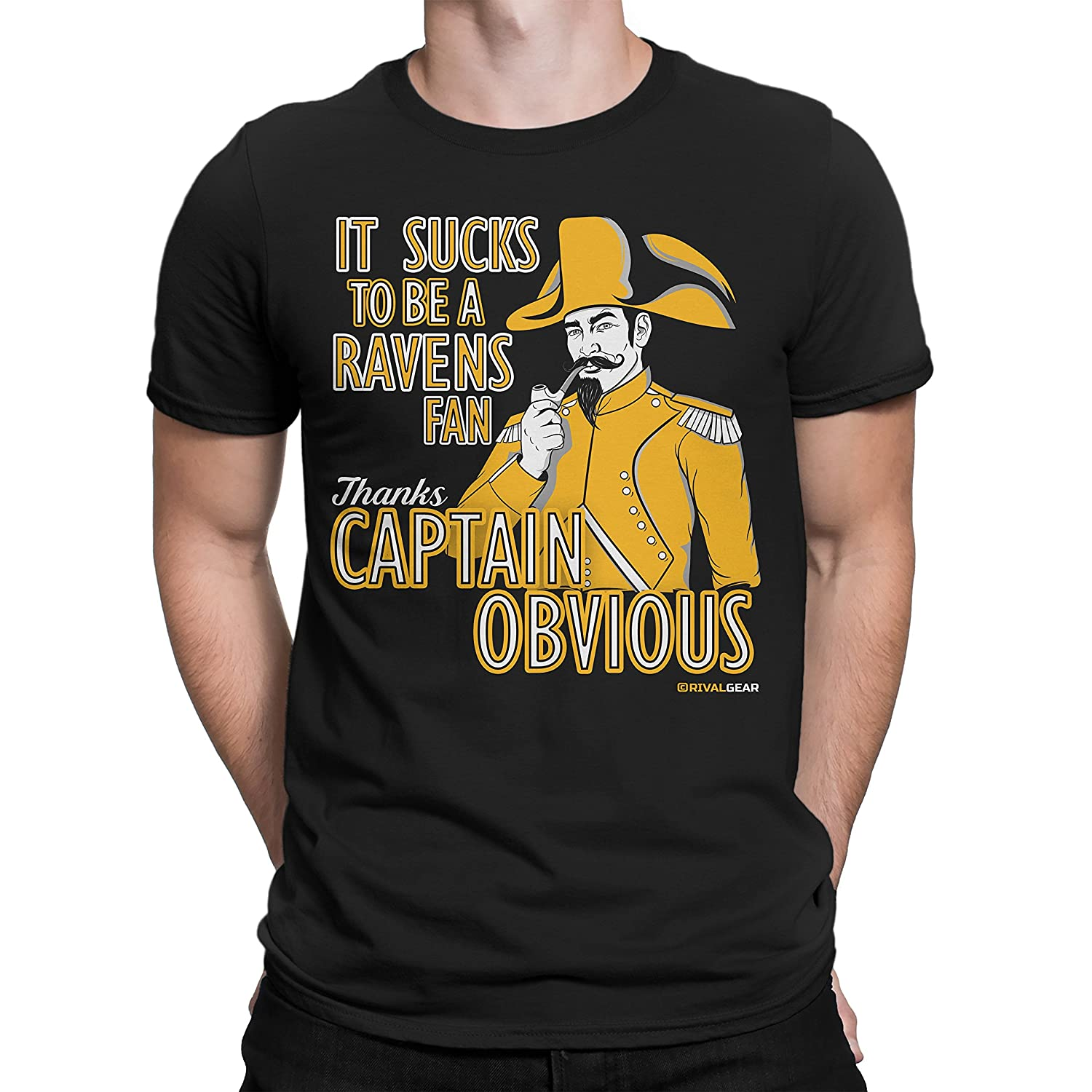 075531dd Rival Gear Pittsburgh Steelers Fan T-Shirt, Captain Obvious Anti ...
