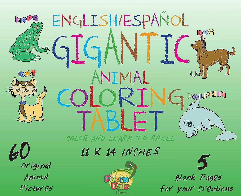 Amazon.com: DEBRADALE DESIGNS Gigantic Animal Bilingual Coloring ...