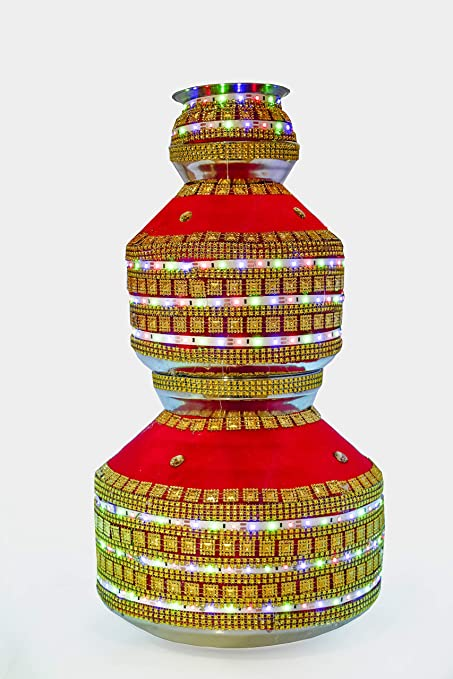 Buy Dulhan Libas Traditional Pure Copper Wedding Mandir Kalash Pot