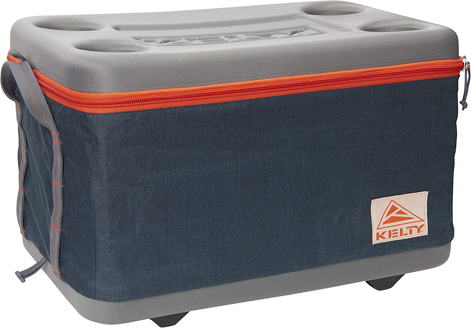 Kelty Folding Cooler - Collapsible, Portable Cooler with Integrated Cup Holders, Heavy Duty Handles, Removable Lining