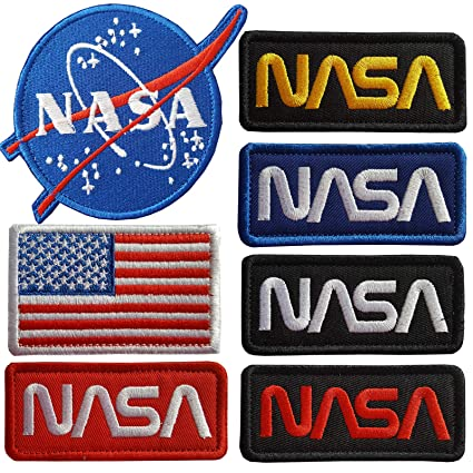 Amazon.com: Parches para planchar Lightbird NASA, 7 piezas ...