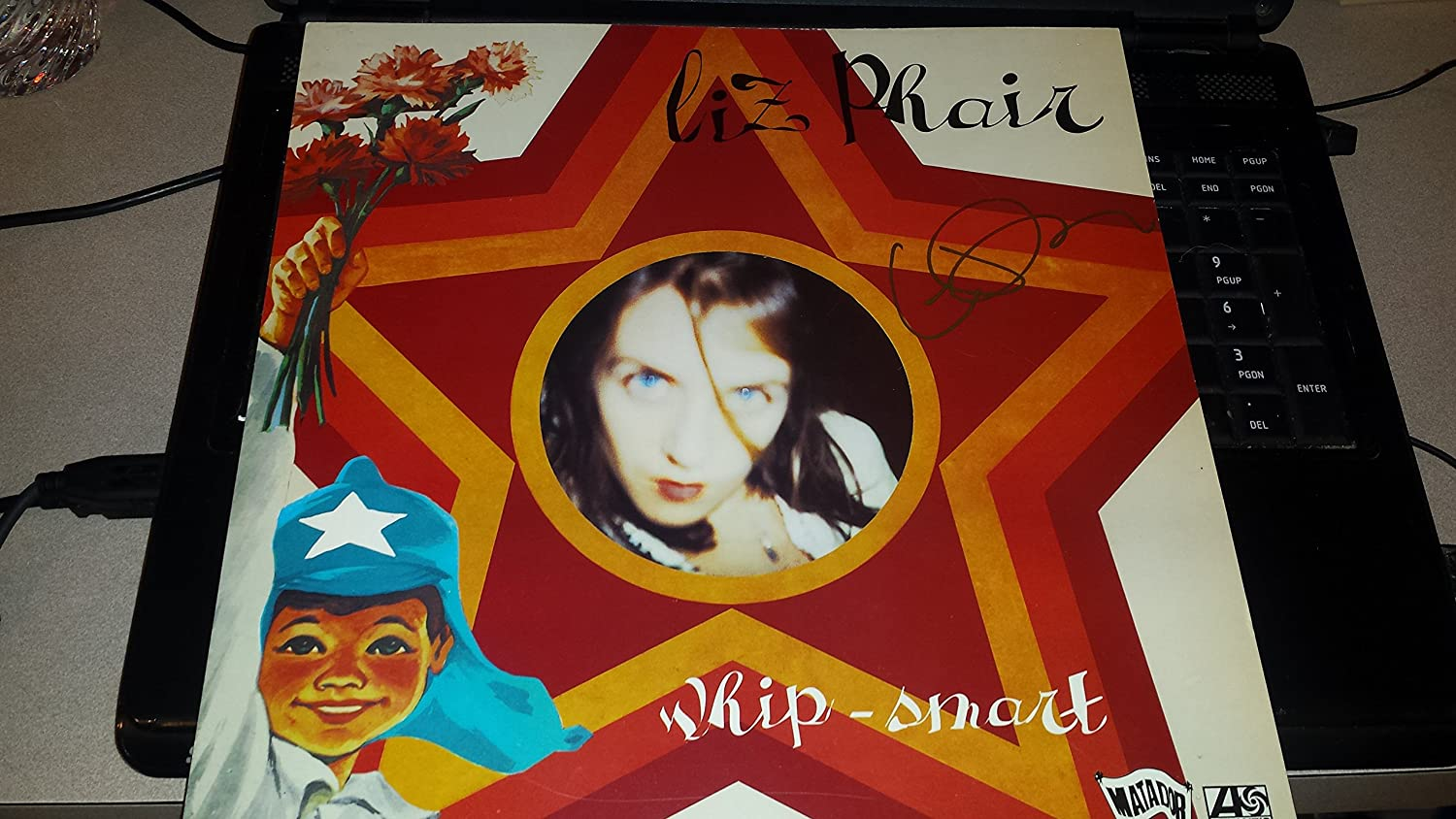 LIZ PHAIR signed 12x12 album flat 1994' Whip Smart/UACC Registered Dealer # 212 LIZ PHAIR signed 12x12 album flat 1994 Whip Smart/UACC Registered Dealer # 212