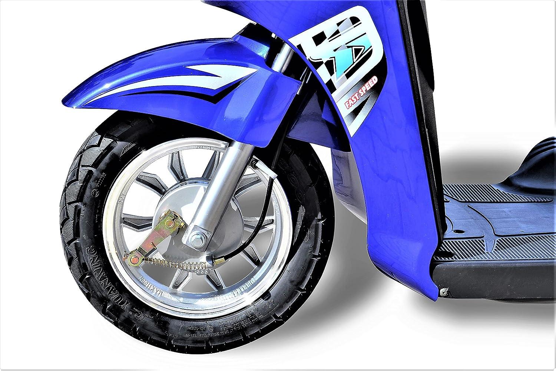 650 W eScooter - Scooter eléctrico de 3 ruedas, silla eléctrica para personas mayores o incapacitadas ECO Engel 500, azul, 1650x690x1080mm: Amazon.es: ...