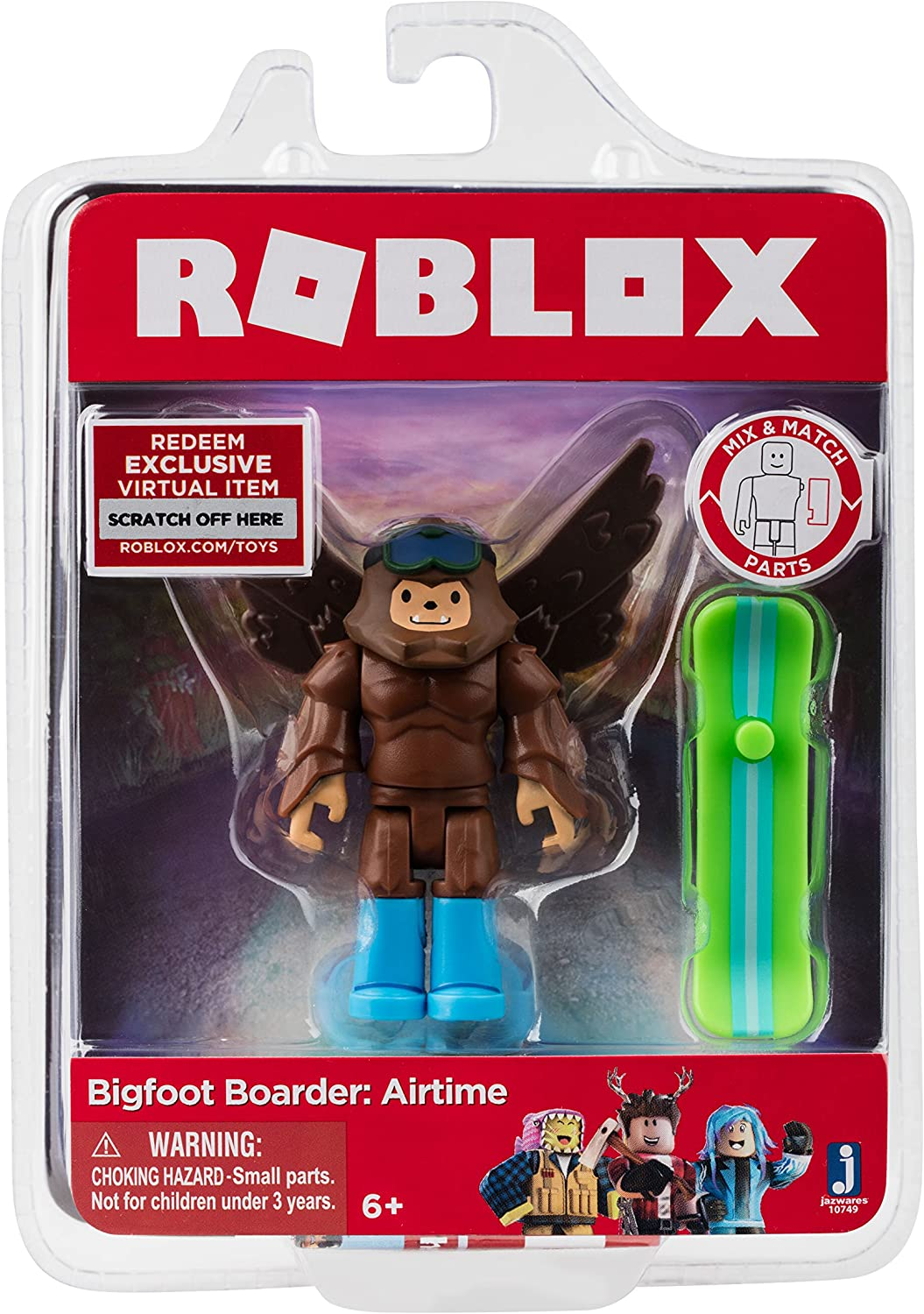 Amazon Com Roblox Bigfoot Boarder Airtime Figure With Exclusive
