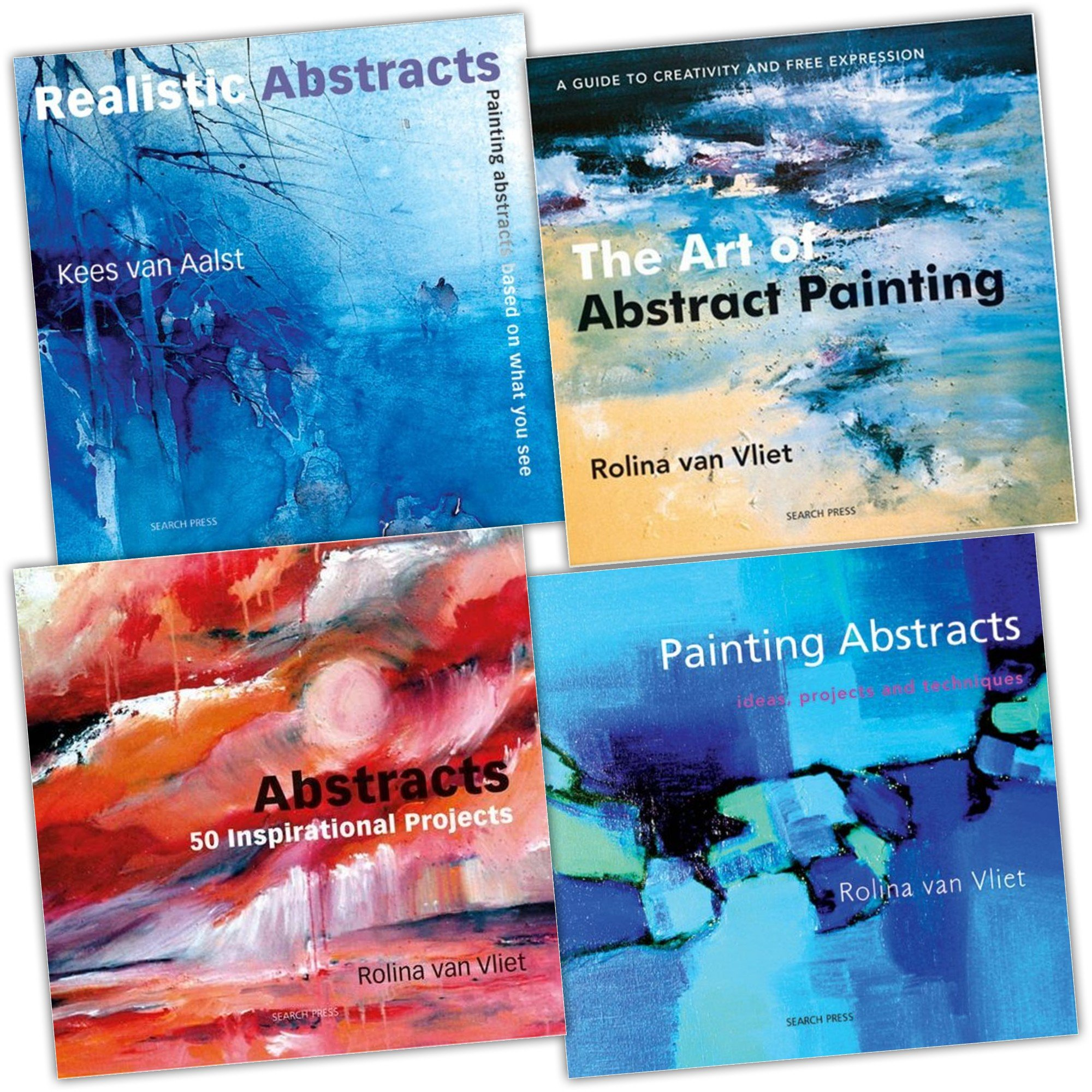 Abstract Art 4 Painting Books Collection Set Pack Rolina Van Vliet Amazon Com Books