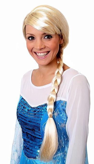 I Love Fancy Dress. ilfd2169 Rubio Trenzada Peluca (Talla única): Amazon.es: Juguetes y juegos