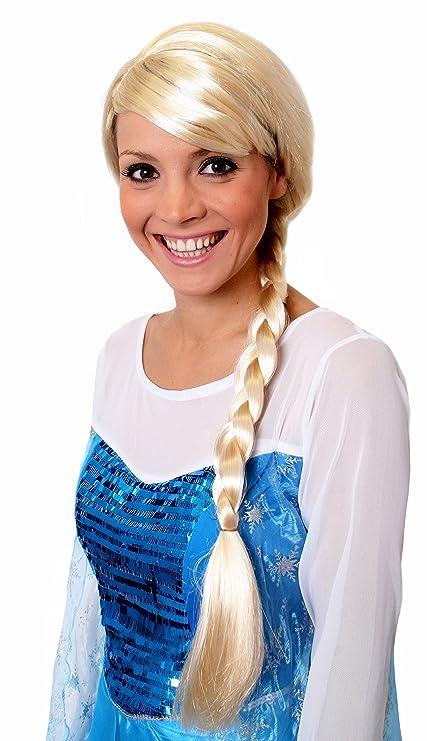 I Love Fancy Dress. ilfd2061 Auburn Trenzas Peluca (Talla única): Amazon.es: Juguetes y juegos