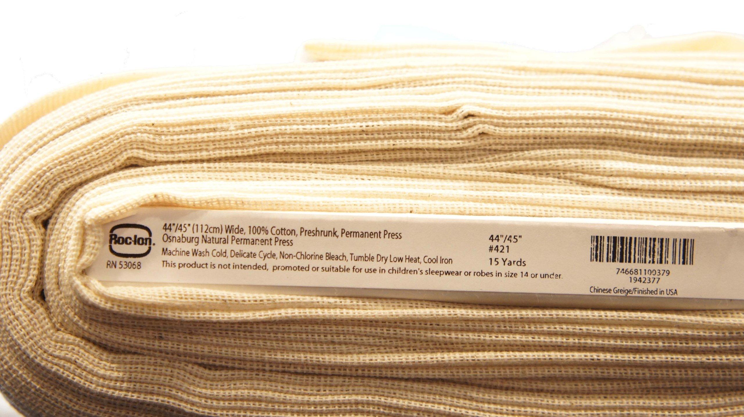 Unbleached Osnaburg 45'' 100% Cotton 25yd Bolt-Natural