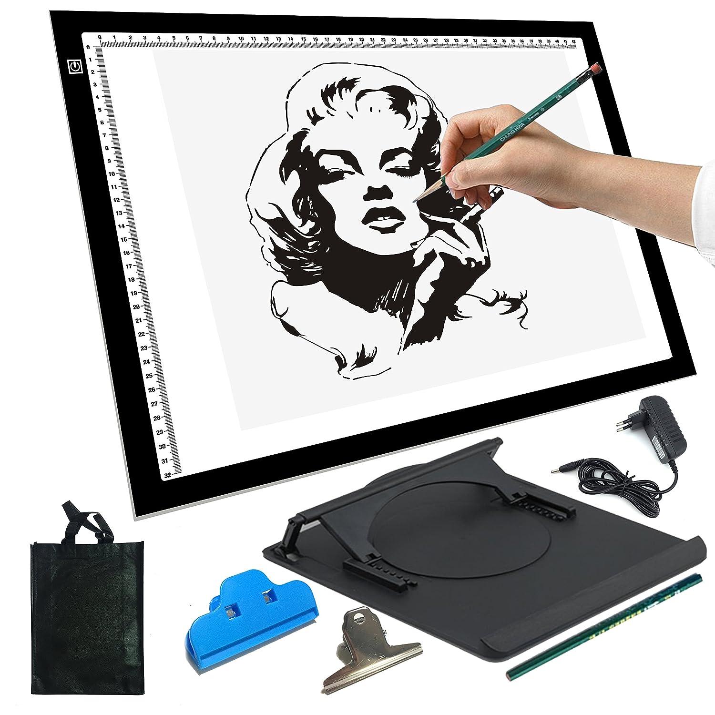 yaufey® A4 Tabla Luminosa con luz Regulable. para disegnare ...