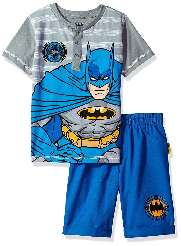 Boys 2 Piece Batman Henley and Twill Short Set Warner Bros