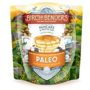 Paleo Pancake and Waffle Mix by Birch Benders, Low-Carb, High Protein, High Fiber, Gluten-free, Low Glycemic, Prebiotic, Keto-Friendly, Made with Cassava, Coconut and Almond Flour, 42 Ounce 1-pack