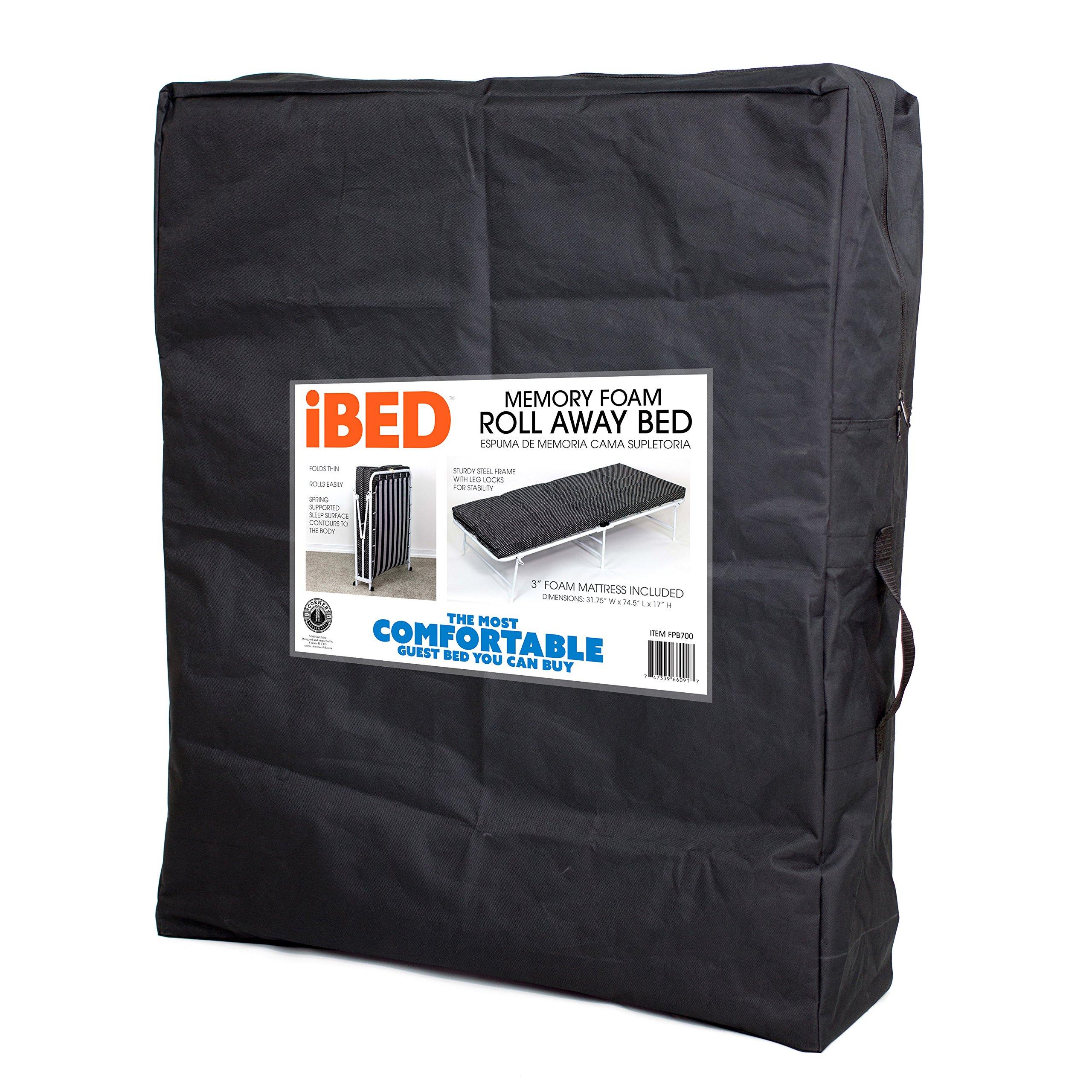 Corner Housewares iBED Rollaway Guest Bed with Custom Sheet Set