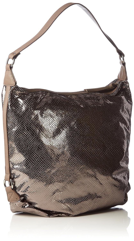 Matilda Hobo Bag 1347161 Damen Schultertaschen 40x35x8 cm (B x H x T), Grau (Pewter Comb 917) Tamaris