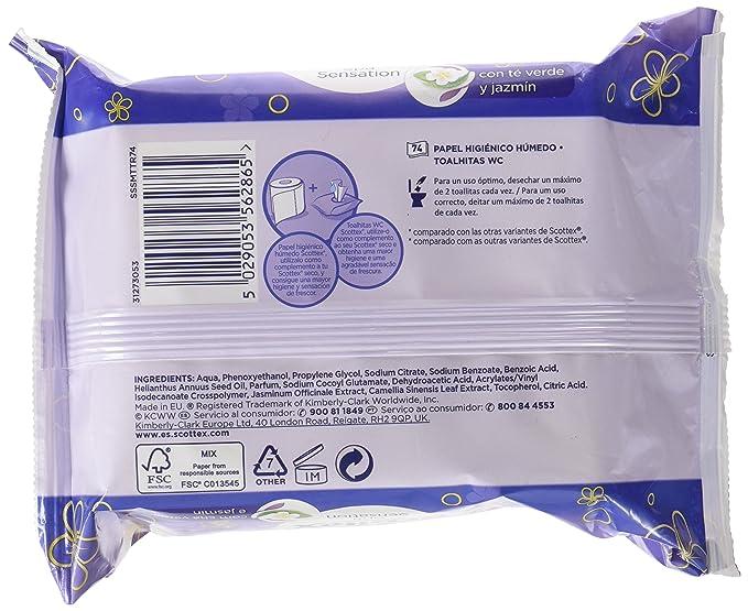 Scottex Spa Sensation Papel Higiénico Húmedo - 74 servicios: Amazon.es: Amazon Pantry