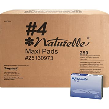 Impact Products 25130973 Maxi Pads, Naturelle, Regular, Vendor Refills, WE