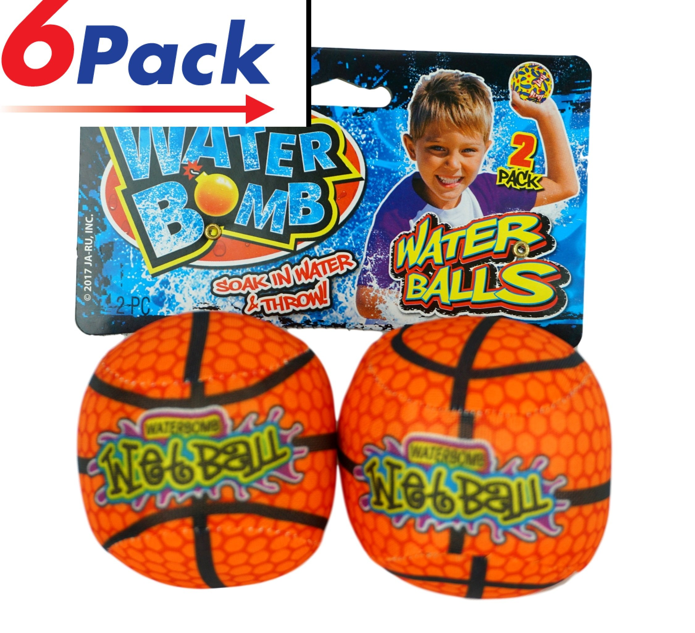 Water Spash Ball (6 Pairs) By JA-RU. Soak and Throw the Bomb. Like water Balloons but Better. | 149-6
