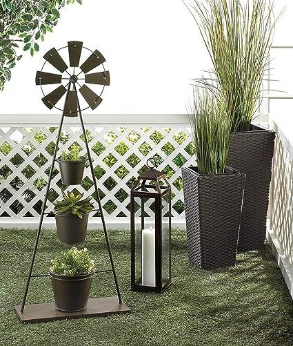 Amazon.com: Soporte para plantas rústicas de 3 niveles de ...