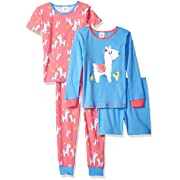 Gerber Baby Girls' 4-Piece Pajama Set, Llama, 18 Months