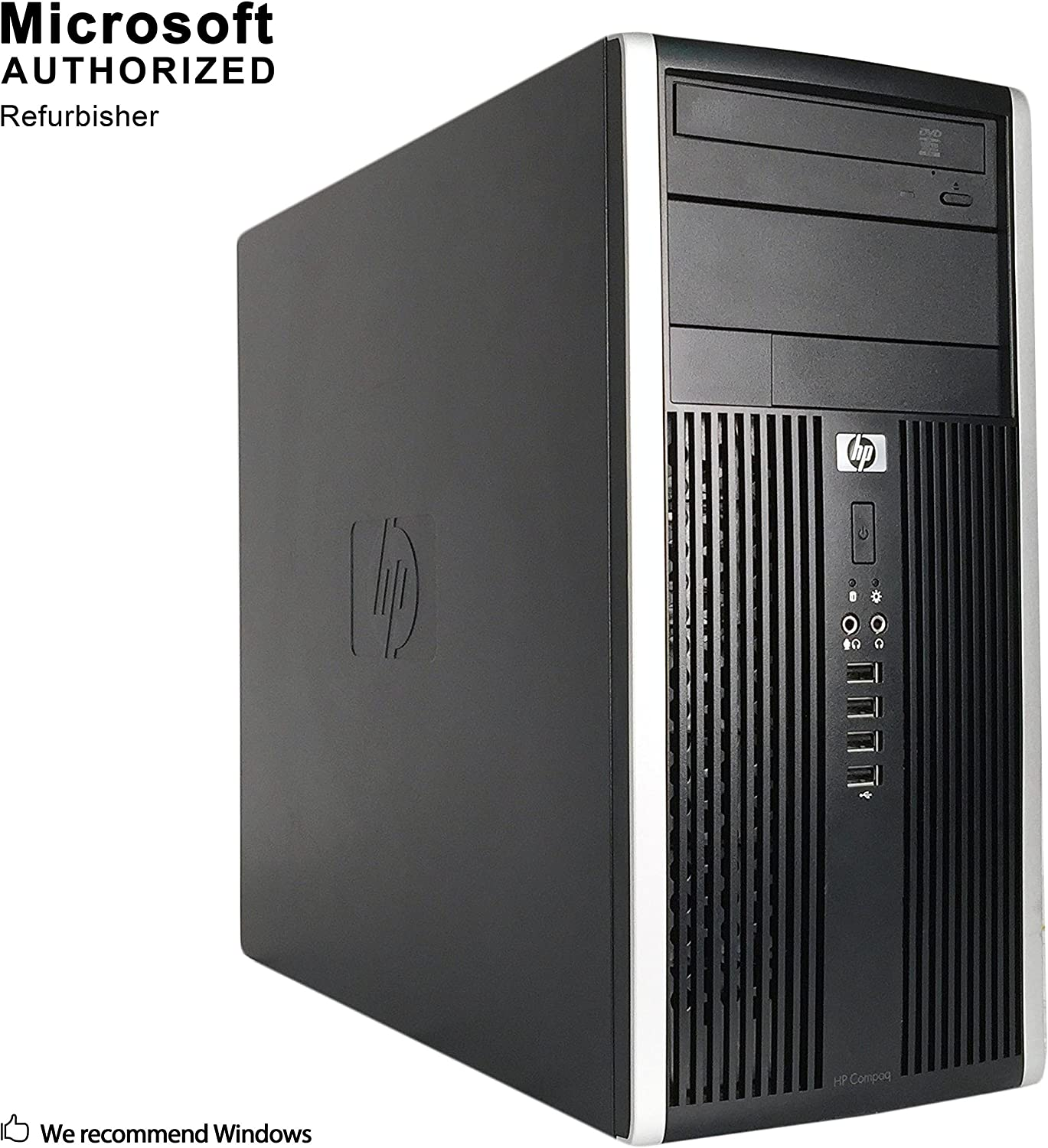 HP Compaq Pro 6300 Tower Desktop PC, Intel Quad Core i7-3770 up to 3.9GHz, 8G DDR3, 128G SSD + 1T HDD, WiFi, Bluetooth 4.0, DVD, Windows 10 64-Multi-Language Support English/Spanish/French (Renewed)