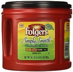 Folgers Simply Smooth Medium Roast Ground Coffee