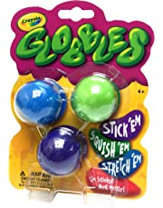 Crayola Globbles, 3 Ct, Sticky, Reusable, Washable Giftable, Loot Bags, Kids, Ages 3, 4, 5, 6 and Up, Back to school, School supplies, Arts and Crafts,  Gifting