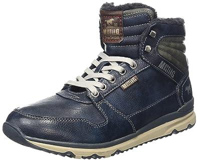 Mustang Side Zip High Sneaker Womens Dark Grey Synthetic Chukka Boots