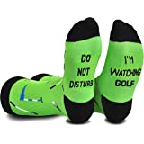 Cavertin Men's Fathers Day Funny Golf Socks with Gift Box