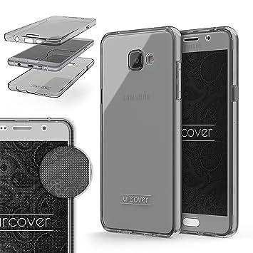 Urcover® Funda Compatible con Samsung Galaxy A5 2016 Carcasa Protectora 360 Grados Silicona Gel en Semi-Transparente Full Body Protección Completa ...