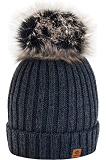 4sold Winter Cristallo Più Grande Pelliccia Pom Pom invernale di lana  Berretto Delle Signore Delle Donne abbd376dbc39