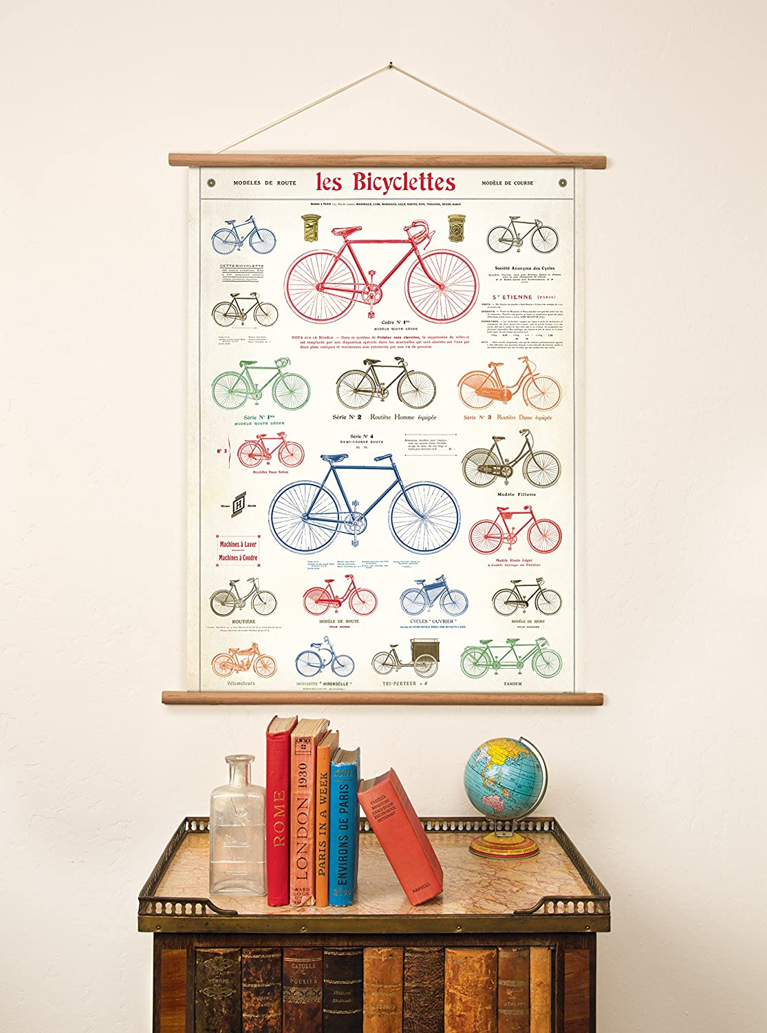 Cavallini Vintage Bicycles Hanging Poster Cavallini Papers /& Co