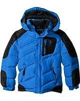 U.S. Polo Assn. Boys' Bubble Jacket with Hood