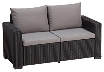 Lounge sofa rattan  Amazon.de: Allibert Lounge Sofa Rattan, Lounge California Sofa ...