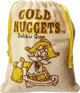 Gold Nugget Bubble Gum, 24 x 50 Grams