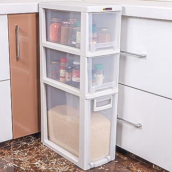 Kurtzy 3 Layer Removable Space Saving Kitchen Storage Organizer Drawer Rack With Wheel Amazon In Home Kitchen