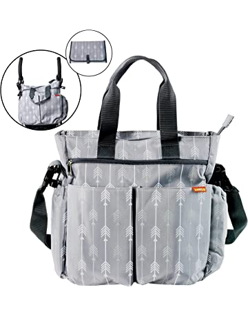 Baby Changing Bag by Zohzo - Nappy Diaper Tote Bag with Changing Pad 6881fb508f849