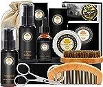 Upgraded Beard Grooming Kit w/Beard Conditioner,Beard Oil,Beard Balm,Beard Brush,Beard Shampoo/Wash,Beard Comb,Beard