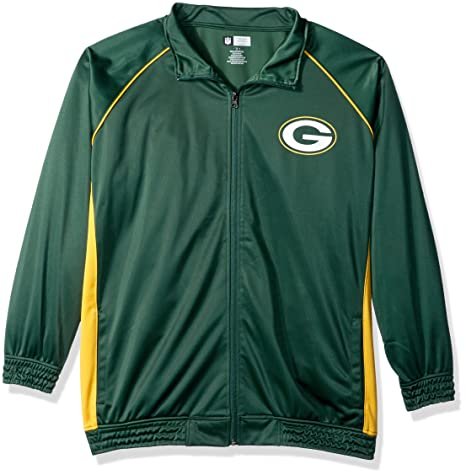 Amazon.com   NFL Womens Packers Poly Tricot Track Jacket   Sports ... 4a913de9f