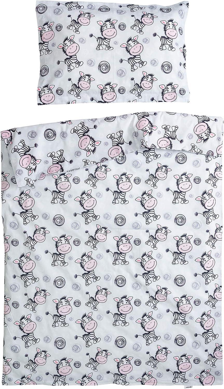Duvet Cover 100x140 cm /& Pillow Case 40x60 cm PatiChou 100/% Cotton Cot//Crib Set Zebra