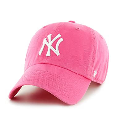 be5afff8895 Image Unavailable. Image not available for. Color  Forty Seven Women s  Brand Yankees Hat Ball Cap Hot Pink