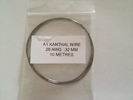 Kanthal A1 Resistance Wire 28 AWG 0.32MM 10 Metres RBA RBD coils ...