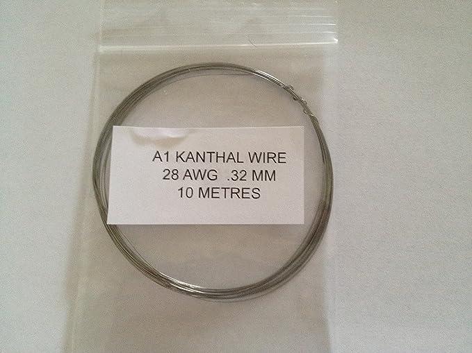 Kanthal A1 Widerstand Draht 28 AWG 0,32 mm 10 Meter Rabba RBD Spulen ...