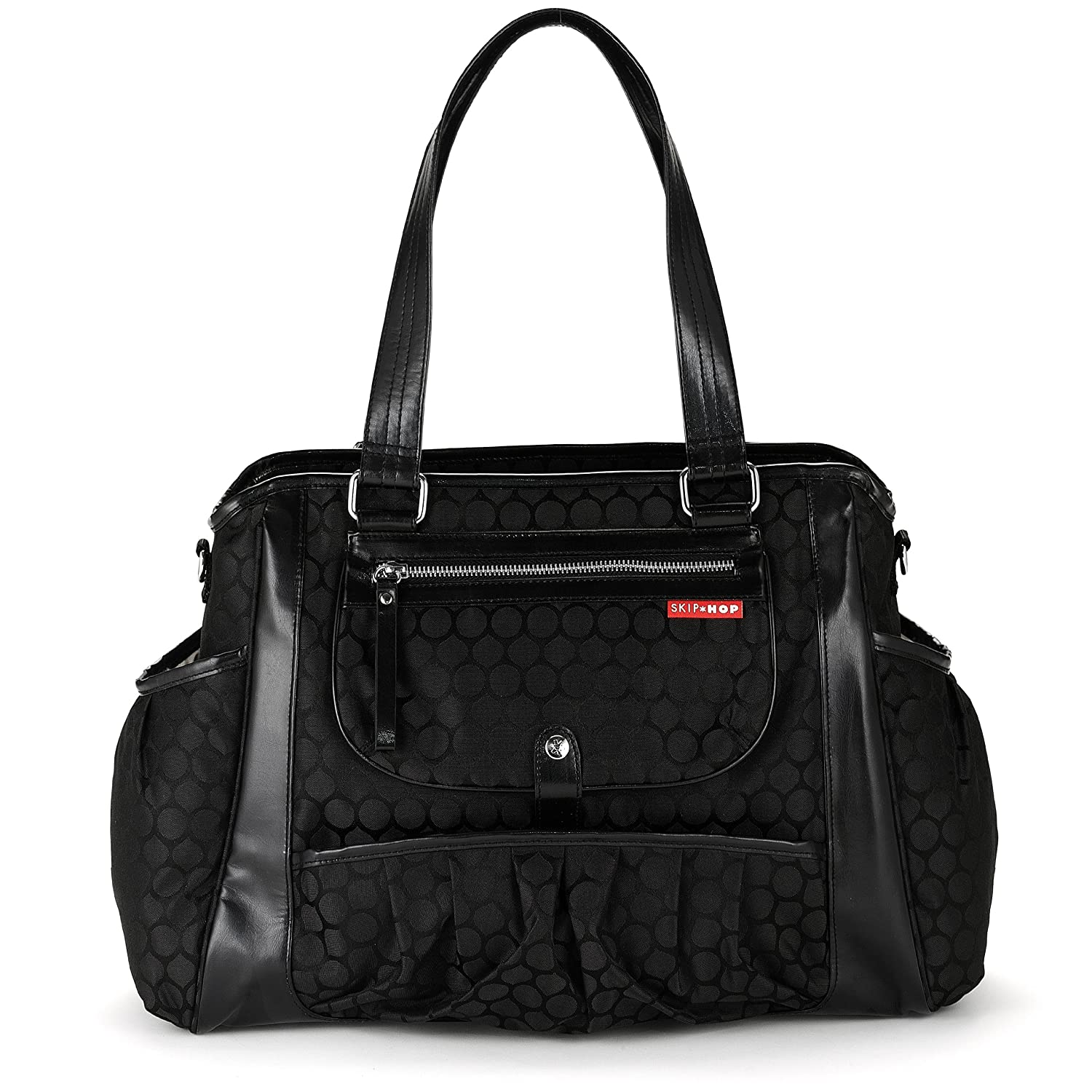 5a0b24dae108 Amazon.com : Skip Hop Studio Diaper Bag, Black Dot (Discontinued by  Manufacturer) : Diaper Tote Bags : Baby